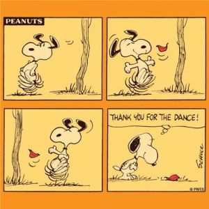 Snoopy in fall